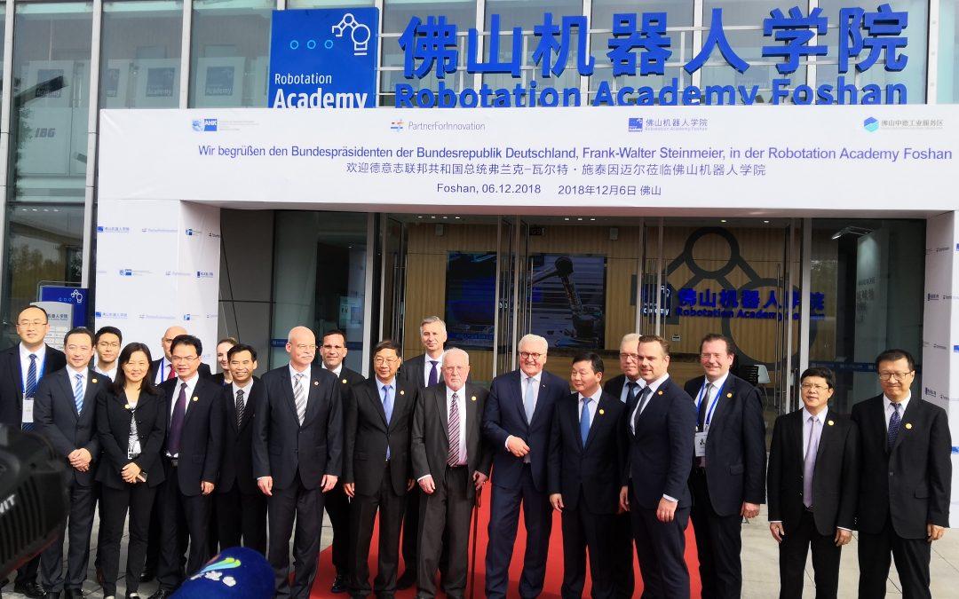 Wissen weltweit gefragt: Bundespräsident Frank-Walter Steinmeier zu besuch in Foshan