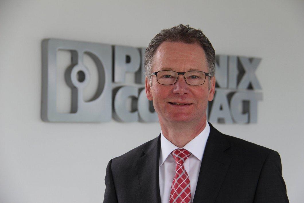 Roland Bent, Technologie-Vorstand bei Phoenix Contact